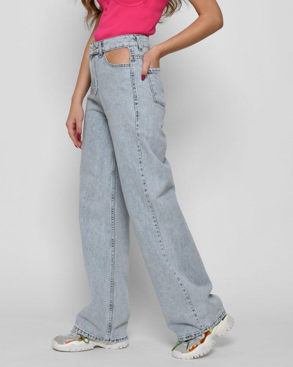 Дизайнерские джинсы 31932-11 голубой