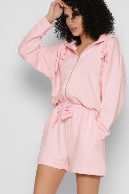 Дизайнерский комбинезон-шорты 6131-15 розовый