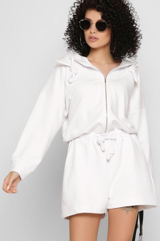 Дизайнерский комбинезон-шорты 6131-3 белый