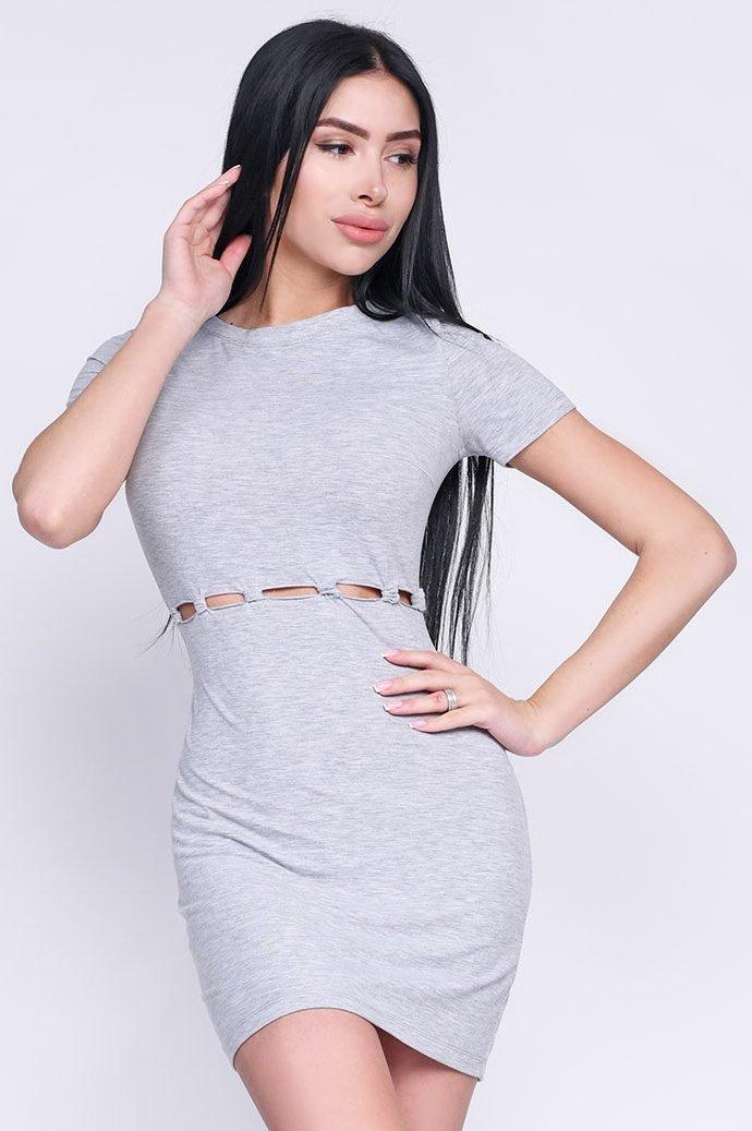 Платье 10241-4 Светло-серый