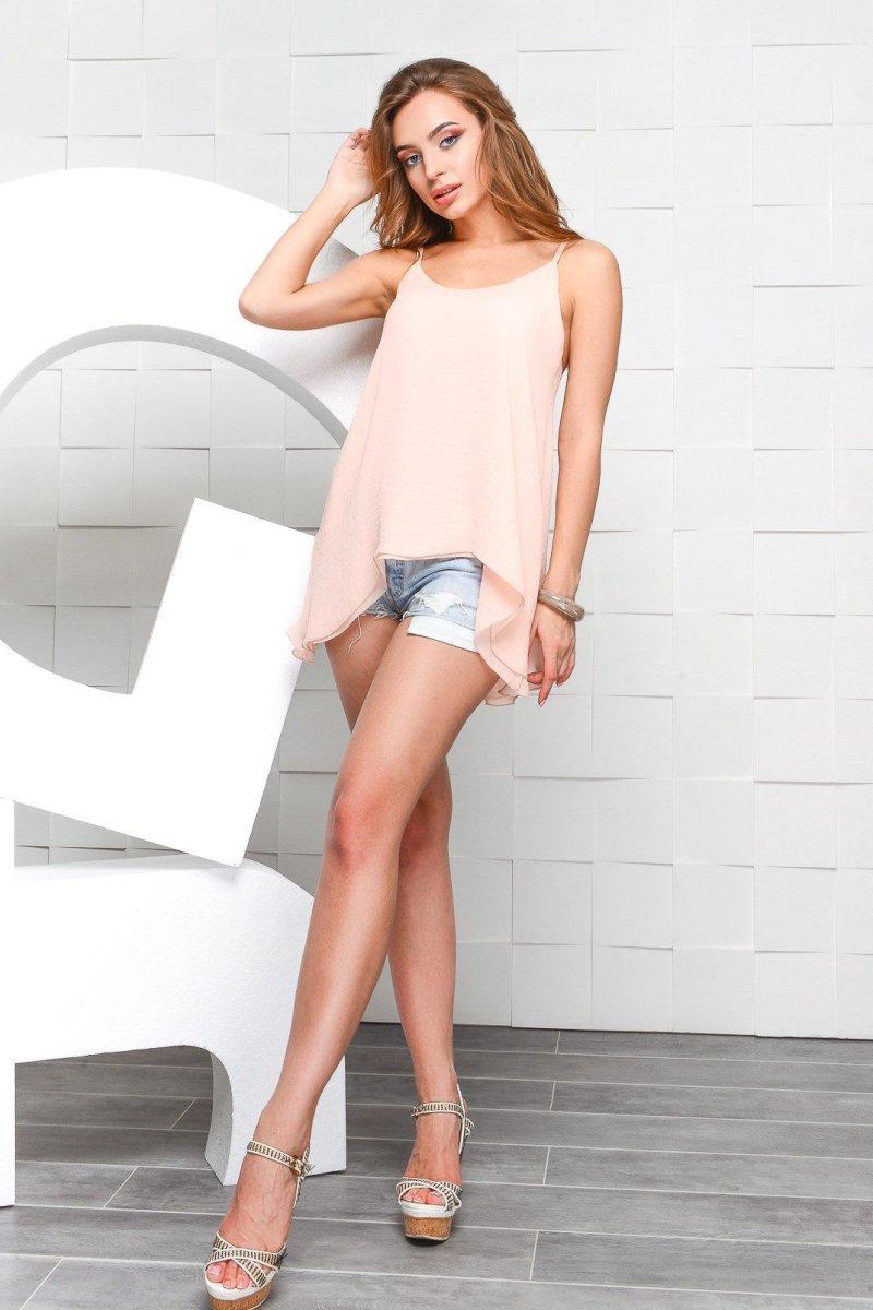 Шифоновая блузка BK-7482-15 Розовый