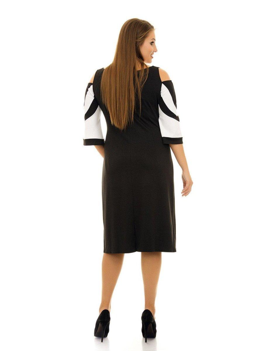 Платье с оригинальными рукавами 1059