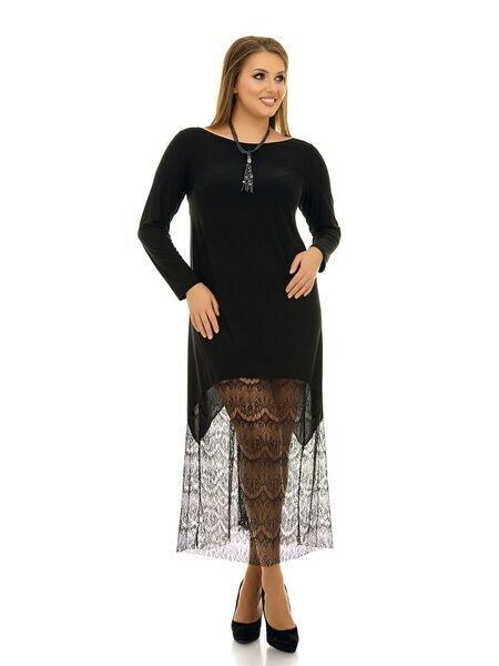 Платье свободного силуэта 1065