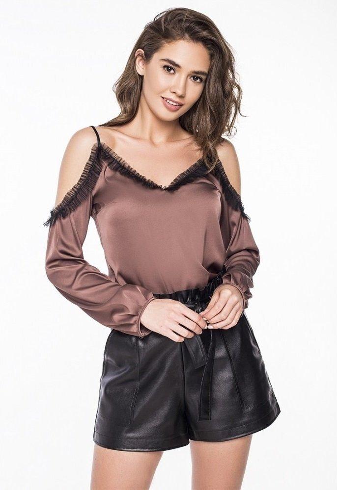 Стильная блузка-майка 2180 мокко