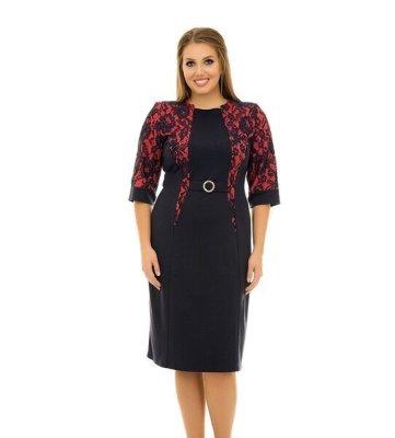 Платье с гипюром арт 1079