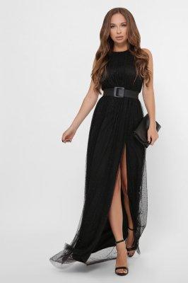 Вечернее платье-макси 10302-8 черное