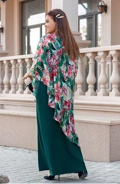 Шифоновое платье-двойка 1396
