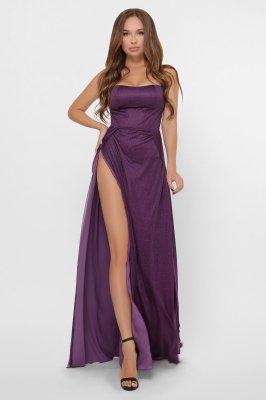 Элегантное вечернее платье 10310-19 фиолетовое