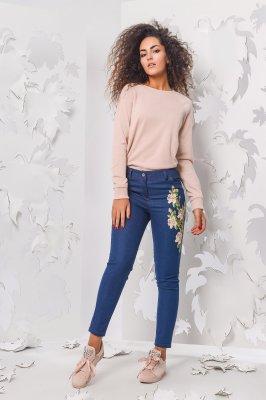Женские джинсы скинни 4087-2 темно-синий