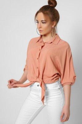 Трендовая женская блузка 32605-27 Персик