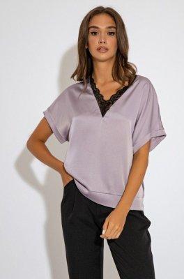 Нежная блуза 21241 сиреневая