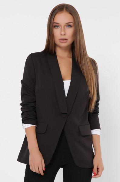Однобортный женский пиджак 9019-8 Черный