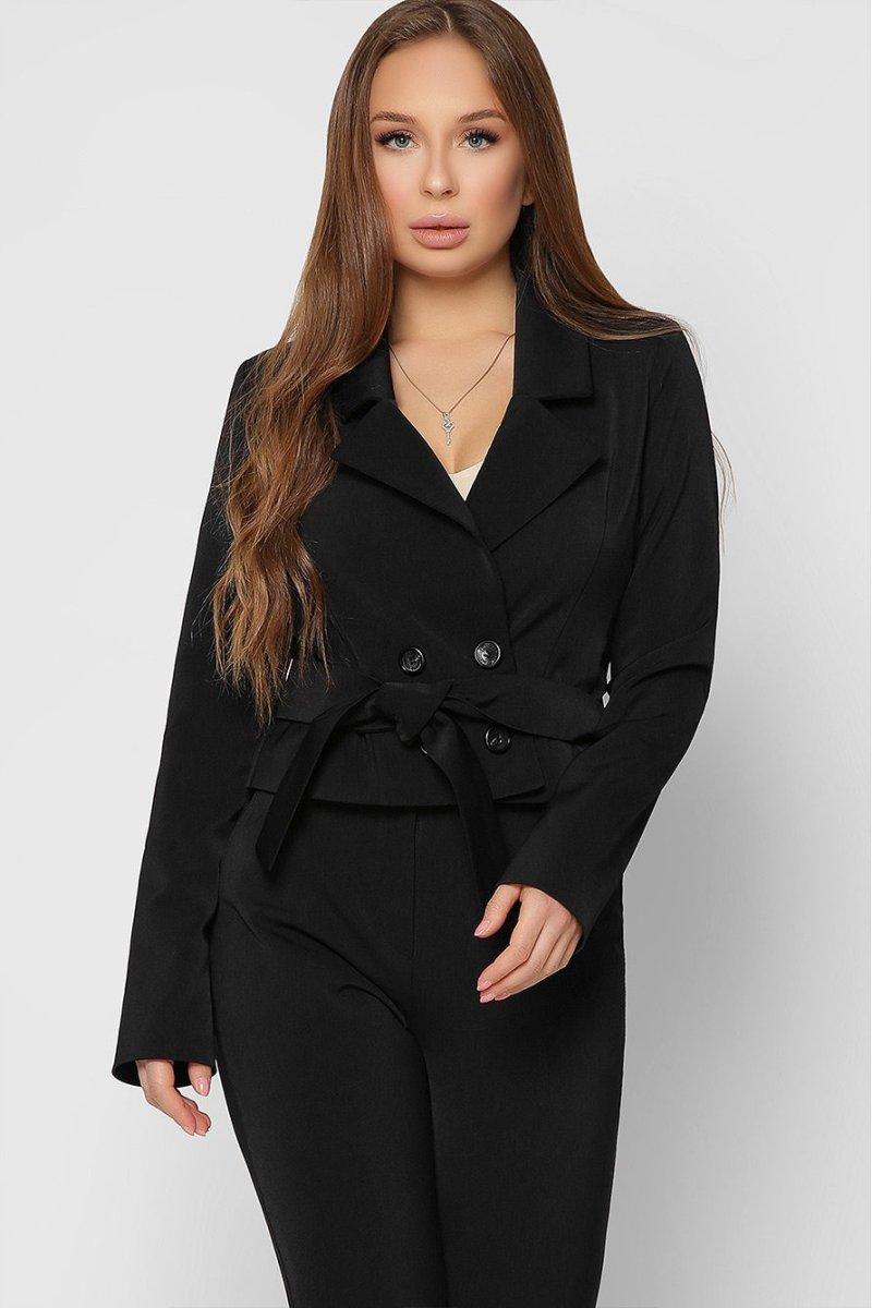 Стильный укороченный пиджак 9022-8 черный