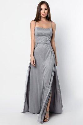 Элегантное вечернее платье 10310-4 серое