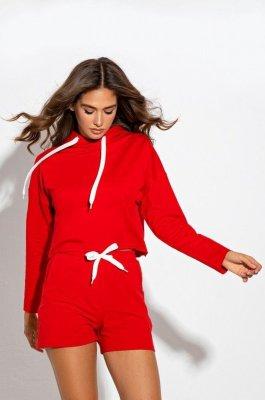 Комфортный костюм 3097 красный