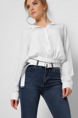 Модная блузка 32604-3 белая
