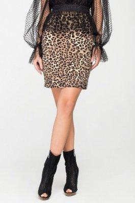 Стильная юбка-мини 6126 леопардовый