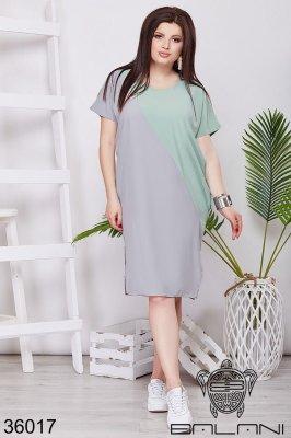 Платье 36017 серое