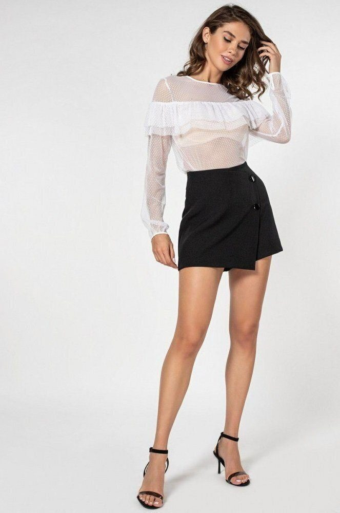 Блуза-сетка 21167 белая