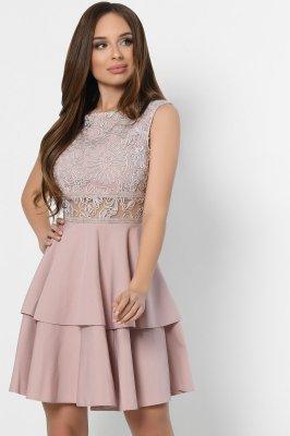 Коктейльное платье 10289-25 пудра