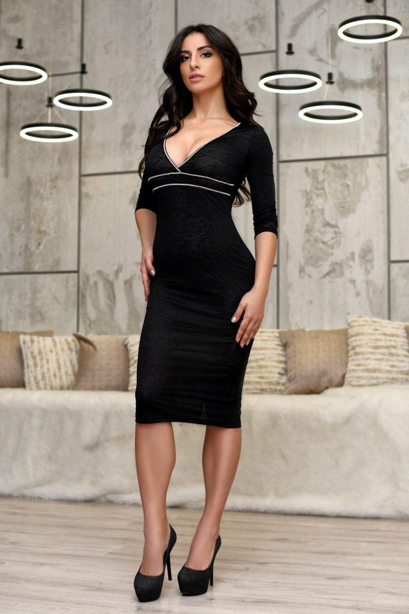 Платье KP-10116-8 Черный