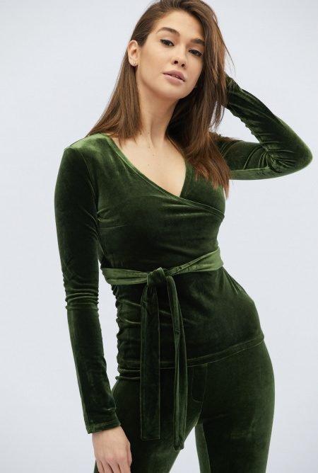 Роскошный костюм из велюра KM-2063-1