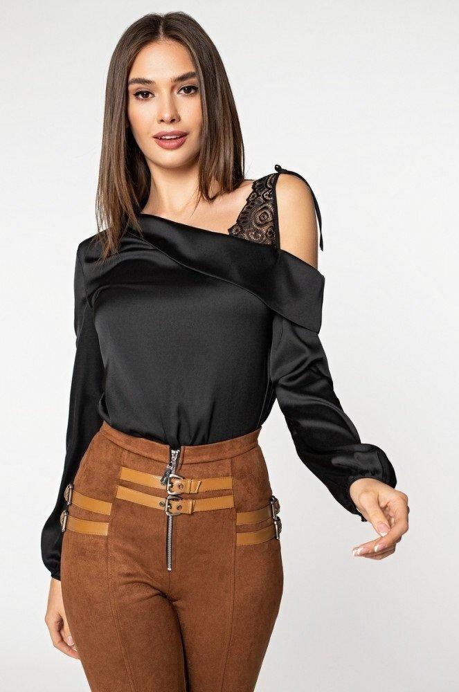 Шелковая блуза 21182 черная