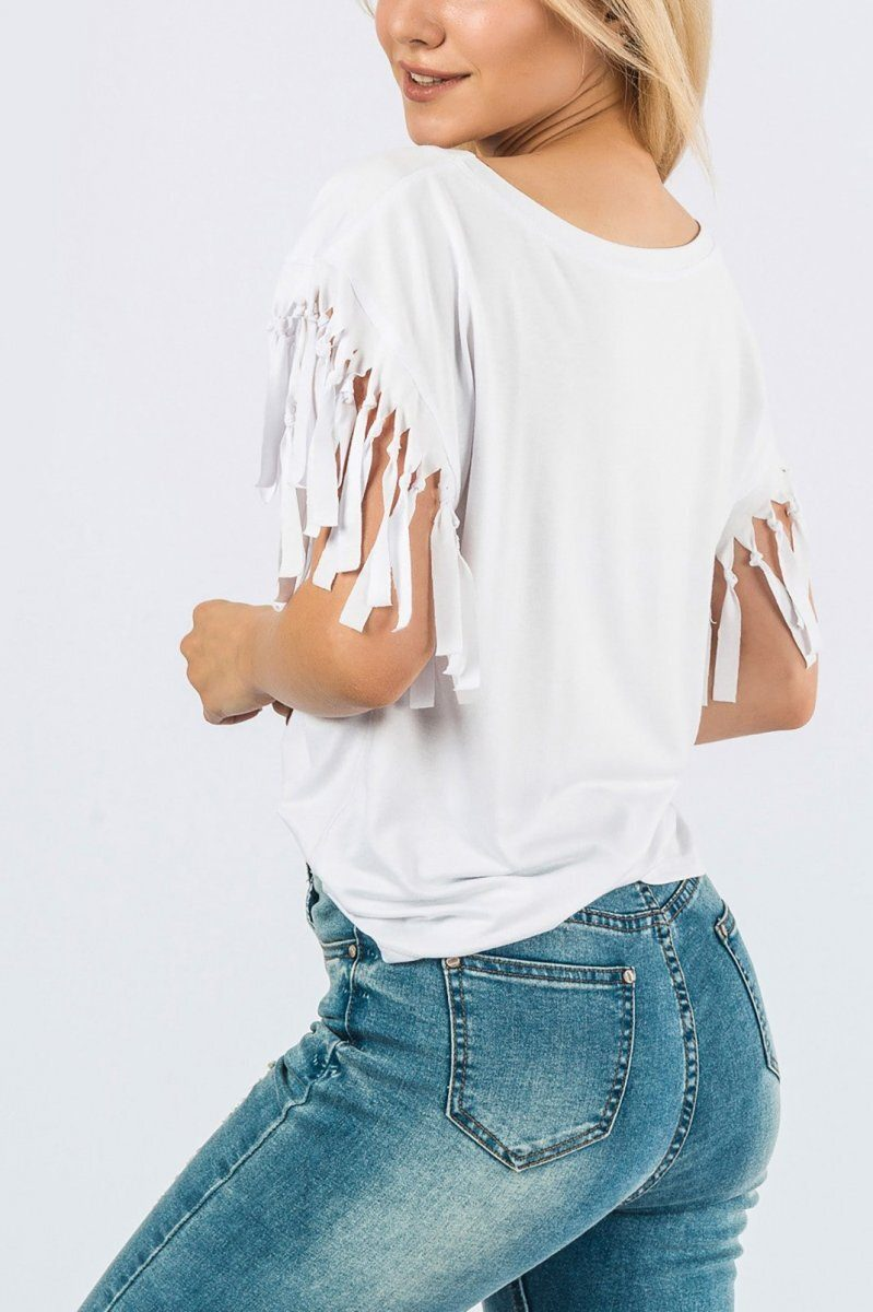 Однотонная футболка 15028-3 Белый
