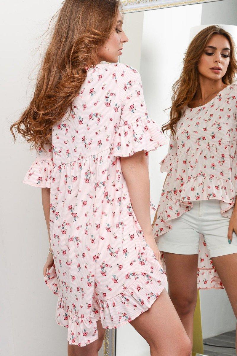 Летняя блузка BK-7600-10 Персик