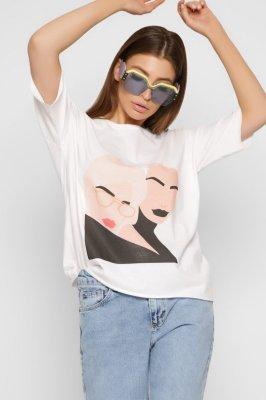 Белая хлопковая футболка 218-3/0019