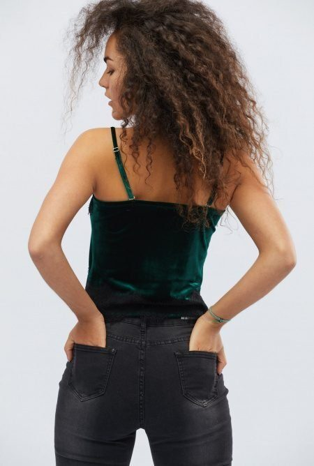 Шикарная велюровая блузка BK-7387-30