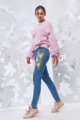 Жіночі джинси скінні 4087-11 блакитний