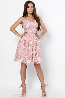 Ажурное платье бэби-долл 10306-15 розовое