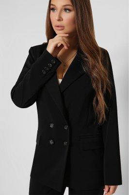 Удлиненный женский пиджак 9024-8 черный
