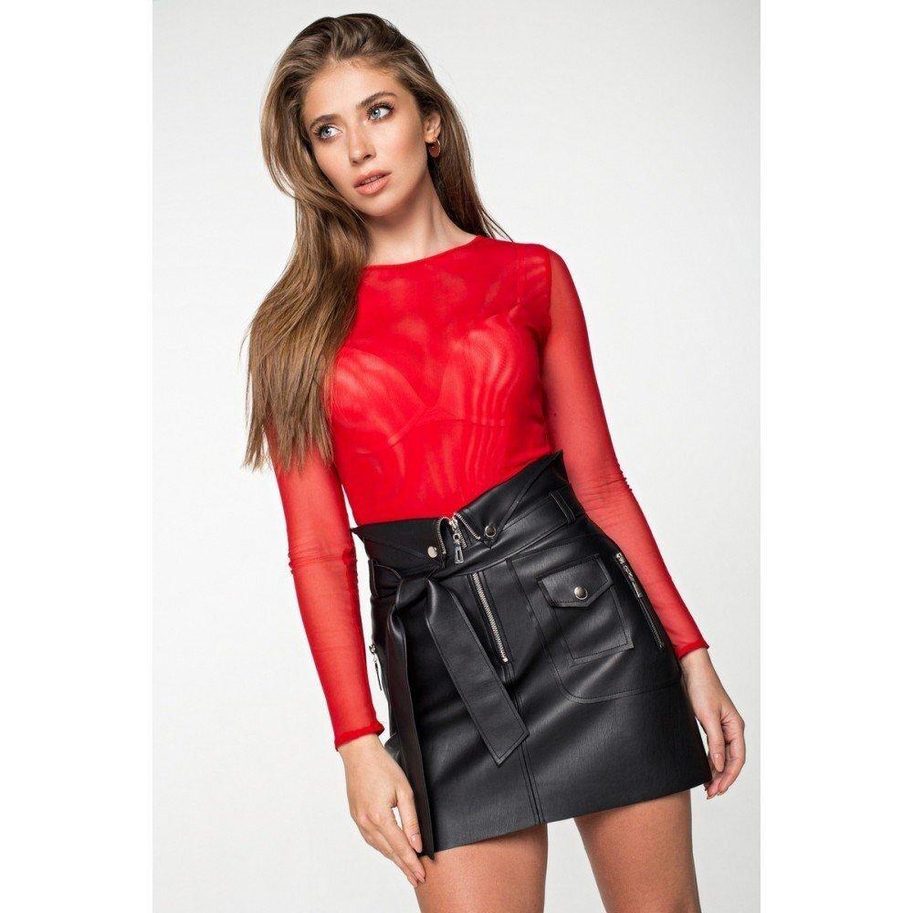 Блуза-сетка 21118 красная