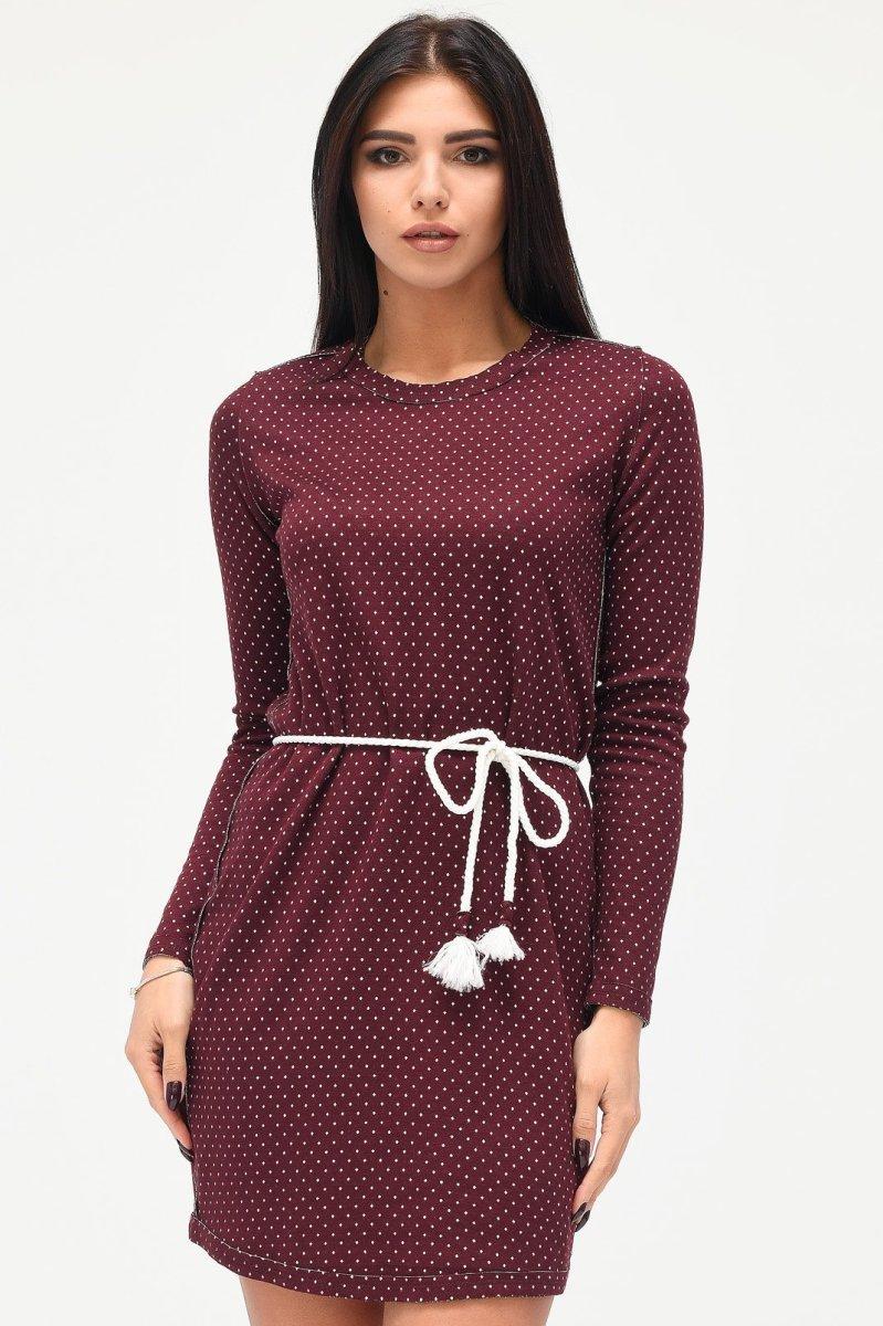 Платье KP-10201-16 Бордовый