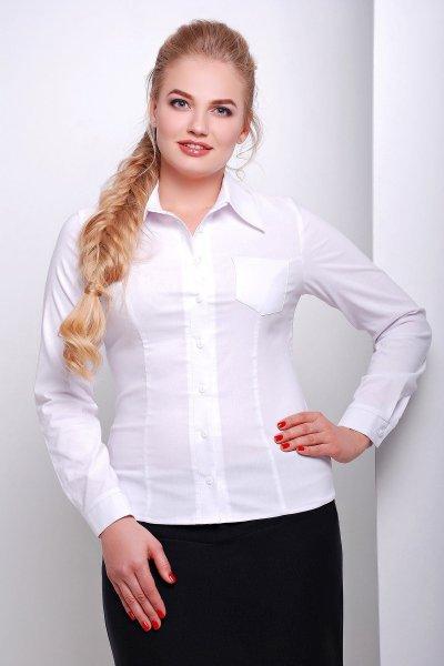 блуза Марта-Б д/р белый