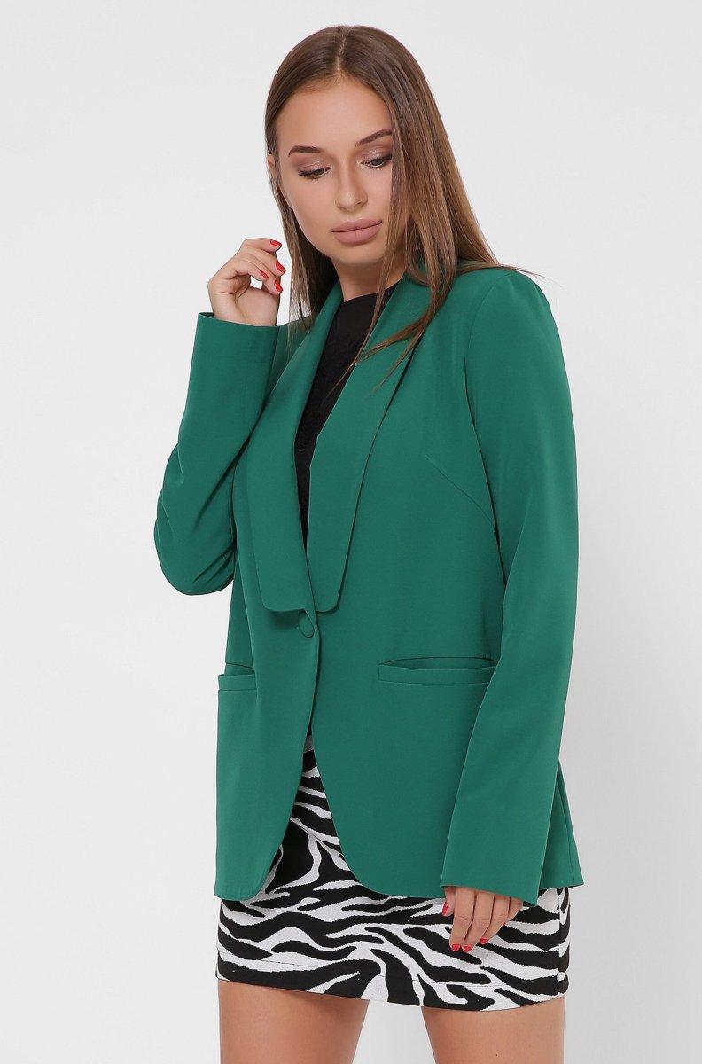 Однобортный женский пиджак 9019-12 Зеленый