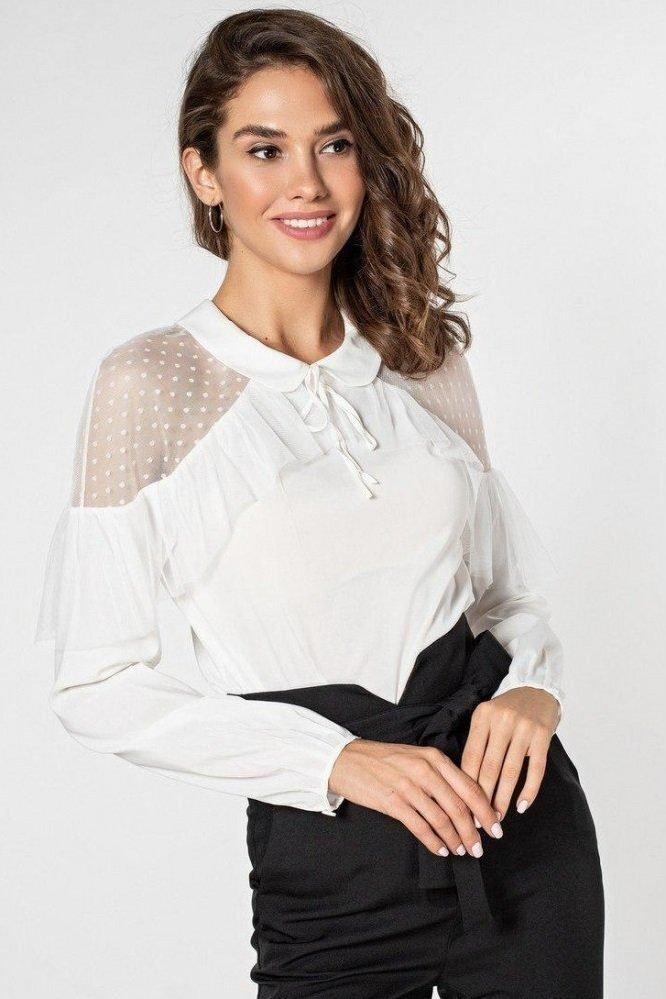 Нежная блуза 21156 молочная