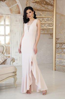 Красивое платье в пол Этель светлый беж