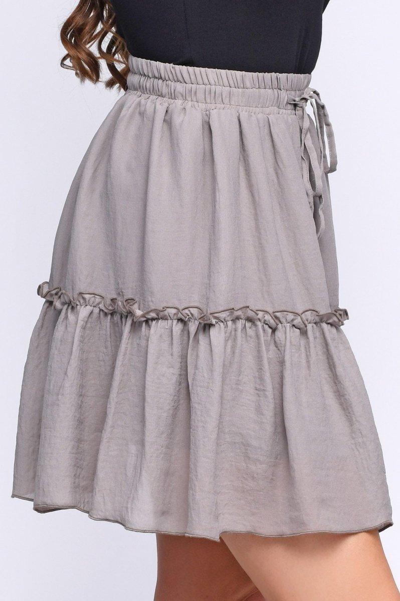 Летняя мини-юбка 3056-1 Хаки