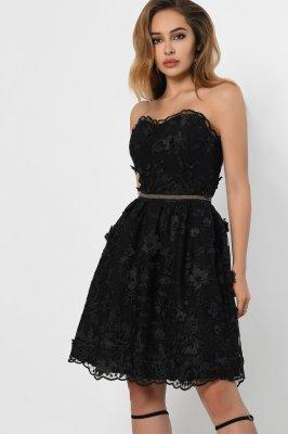 Ажурное платье бэби-долл 10306-8 черное
