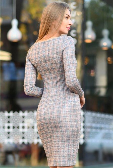 Модное платье футляр KP-10184-4