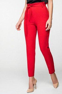 Зауженные брюки 4050 красные