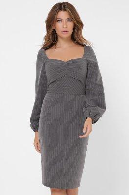 Женское платье в полоску 10269-29 Графит