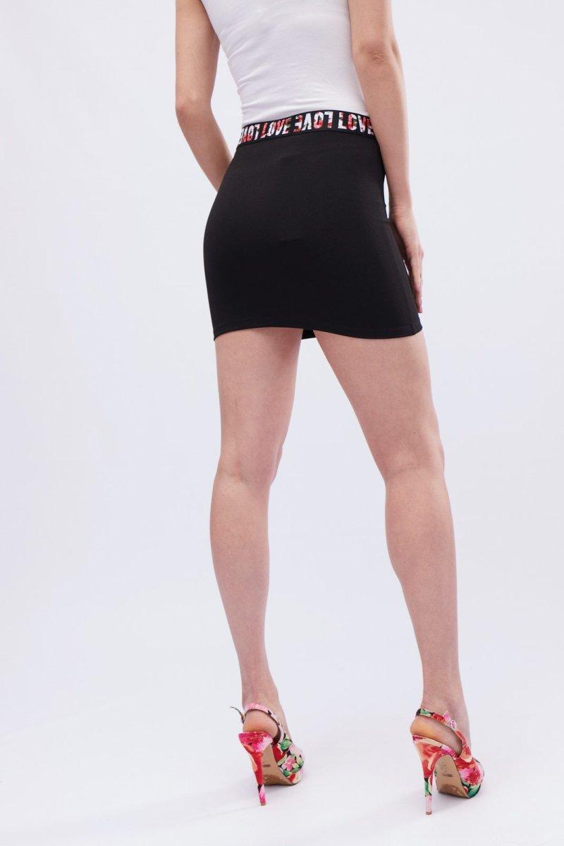 Базовая мини-юбка UB-3053-8 Черный
