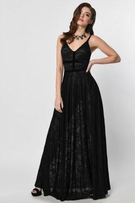 Дизайнерское платье-макси 10305-8 черное