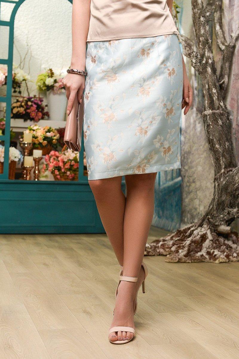 Элегантная юбка UB-3045-11 Голубой
