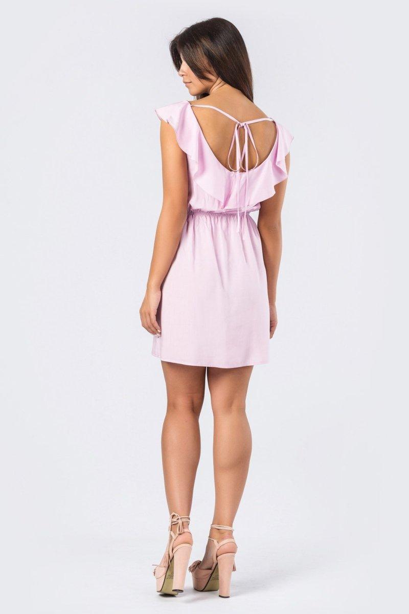 Нежное платье 10169-21 Пыльная роза