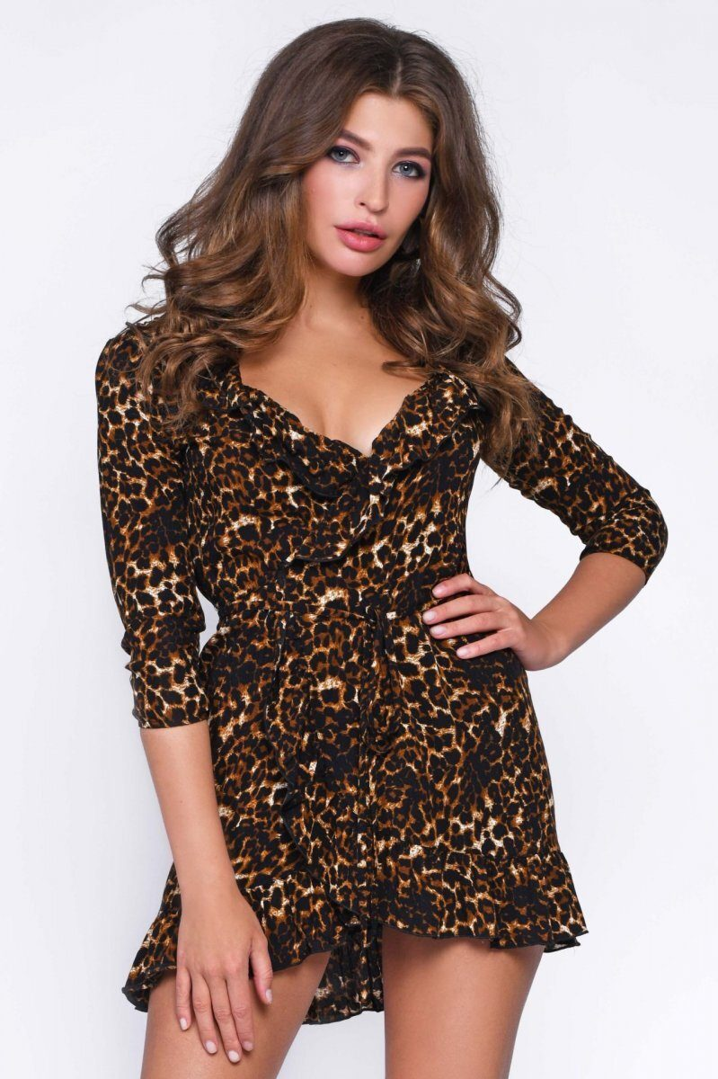 Платье KP-10231-6 Леопард
